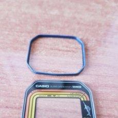 Relojes - Casio: CRISTAL ORIGINAL. CASIO CON ARO DE GOMA, (VINTAGE) NUEVO SIN USO PARA UNA CAJA CASIO O REPUESTOS. Lote 57857273
