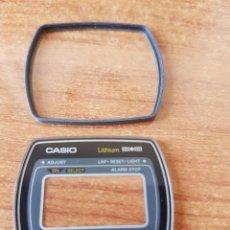 Relojes - Casio: CRISTAL ORIGINAL. CASIO CON EL ARO DE GOMA, NUEVO SIN USO PARA UNA CAJA CASIO O REPUESTOS. Lote 57857329