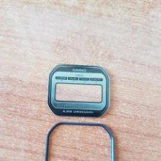 Relojes - Casio: CRISTAL ORIGINAL. CASIO CON EL ARO DE GOMA, NUEVO SIN USO PARA UNA CAJA CASIO O REPUESTOS. Lote 57857404