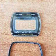 Relojes - Casio: CRISTAL ORIGINAL. CASIO CON EL ARO DE GOMA, NUEVO SIN USO PARA UNA CAJA CASIO O REPUESTOS. Lote 57857566