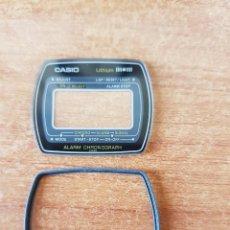 Relojes - Casio: CRISTAL ORIGINAL. CASIO CON EL ARO DE GOMA, NUEVO SIN USO PARA UNA CAJA CASIO O REPUESTOS. Lote 57857652