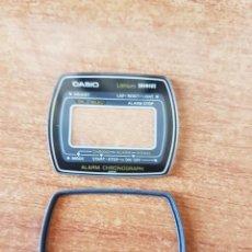 Relojes - Casio: CRISTAL ORIGINAL. CASIO CON EL ARO DE GOMA, NUEVO SIN USO PARA UNA CAJA CASIO O REPUESTOS. Lote 57857747
