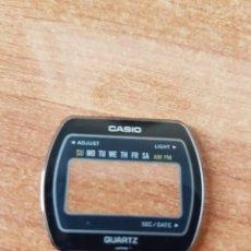 Relojes - Casio: CRISTAL ORIGINAL (NO PLÁSTICO) CASIO CON EL ARO DE GOMA, NUEVO SIN USO PARA PONER EN UNA CAJA CASIO. Lote 57956497