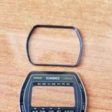 Relojes - Casio: CRISTAL ORIGINAL. CASIO CON EL ARO DE GOMA, NUEVO SIN USO PARA UNA CAJA CASIO O REPUESTOS. Lote 57957294