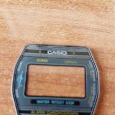 Relojes - Casio: CRISTAL ORIGINAL. CASIO CON EL ARO DE GOMA, NUEVO SIN USO PARA UNA CAJA CASIO O REPUESTOS. Lote 57957514