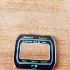 Relojes - Casio: CRISTAL ORIGINAL. CASIO CON EL ARO DE GOMA, NUEVO SIN USO PARA UNA CAJA CASIO O REPUESTOS. Lote 57957615