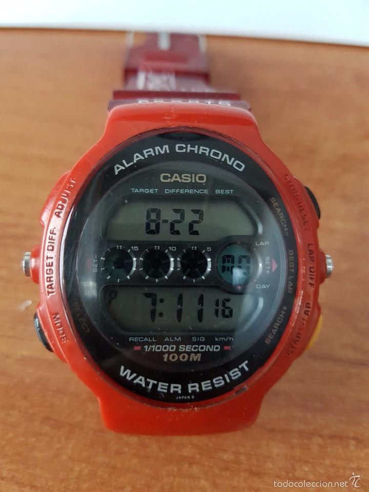 Relojes - Casio: Reloj de caballero (Vintage) Casio módulo 902. GPX-1000 de cuarzo digital con correa de goma - Foto 4 - 58709620