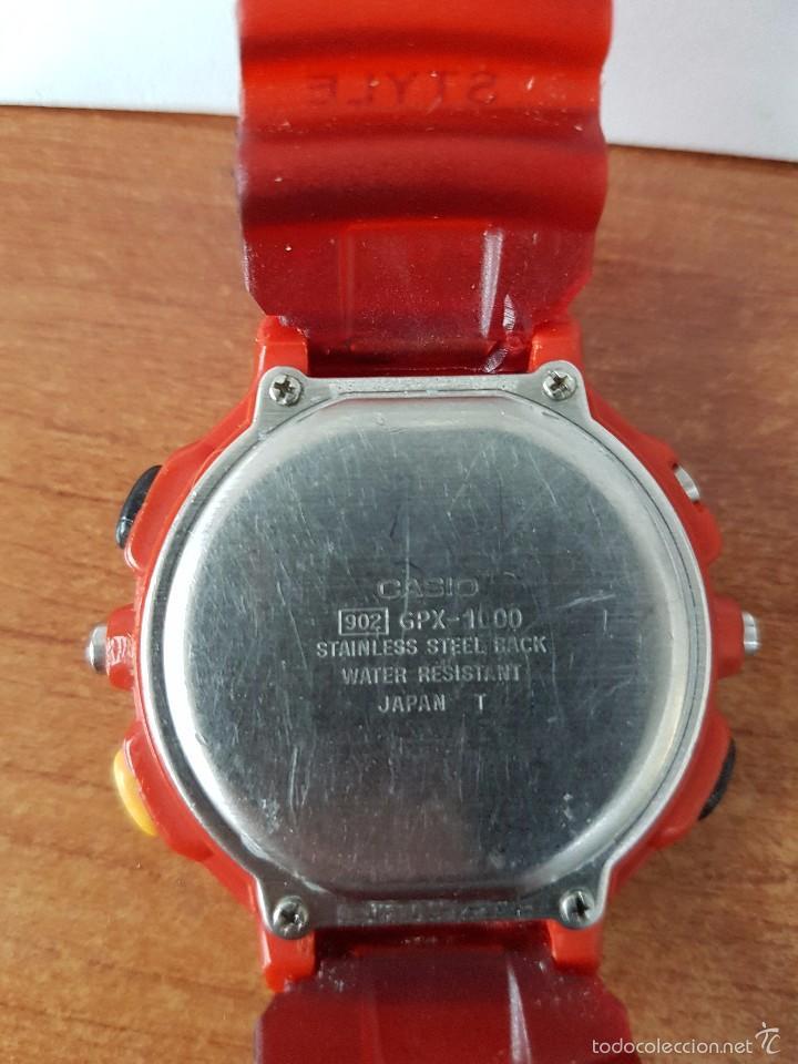 Relojes - Casio: Reloj de caballero (Vintage) Casio módulo 902. GPX-1000 de cuarzo digital con correa de goma - Foto 5 - 58709620