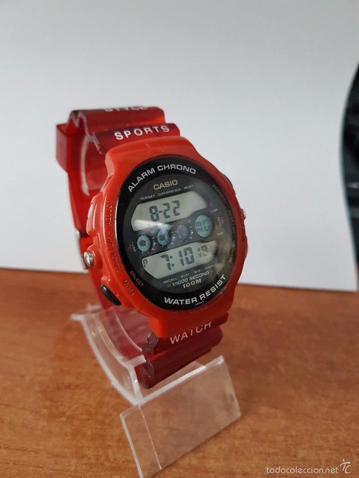 Relojes - Casio: Reloj de caballero (Vintage) Casio módulo 902. GPX-1000 de cuarzo digital con correa de goma - Foto 8 - 58709620