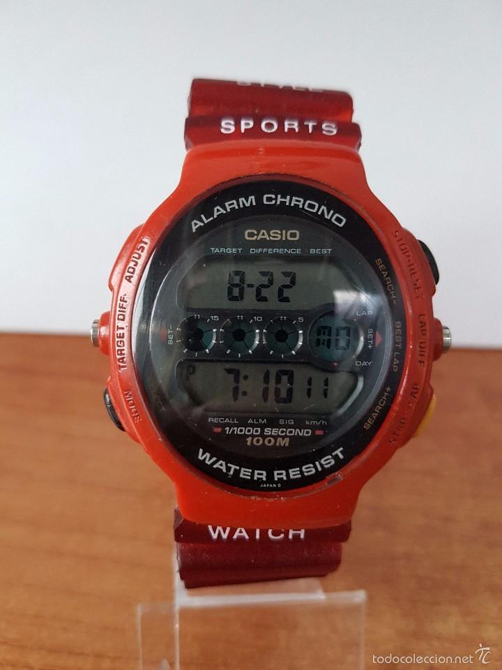 Relojes - Casio: Reloj de caballero (Vintage) Casio módulo 902. GPX-1000 de cuarzo digital con correa de goma - Foto 9 - 58709620