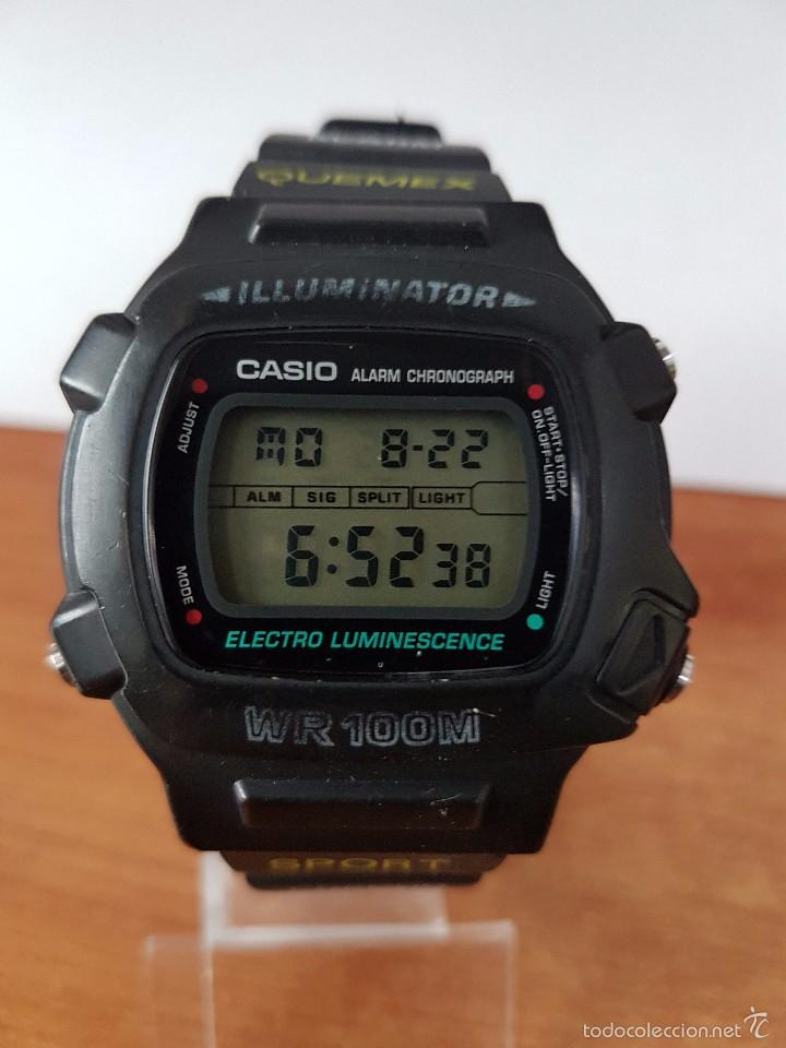 RELOJ DE CABALLERO (VINTAGE) MÓDULO 1219 - W 740 ELECTRO LUMINESCENCE CON CORREA DE GOMA (Relojes - Relojes Actuales - Casio)