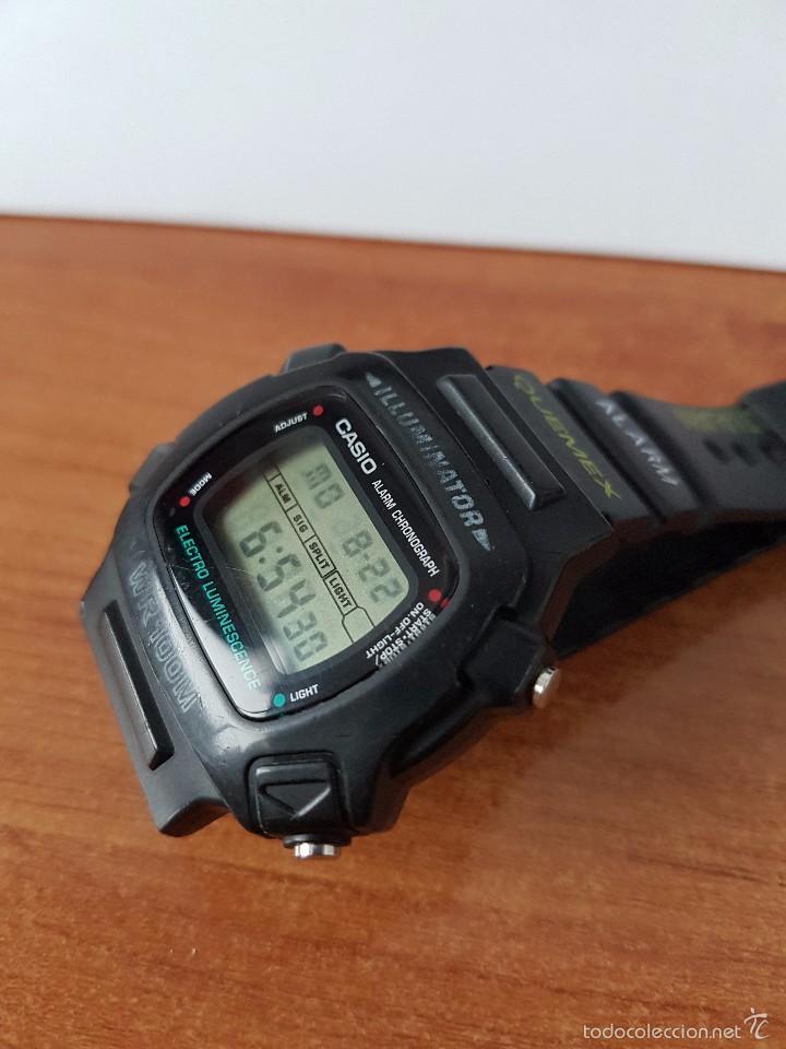 Relojes - Casio: Reloj de caballero (Vintage) módulo 1219 - W 740 electro luminescence con correa de goma - Foto 2 - 58743095