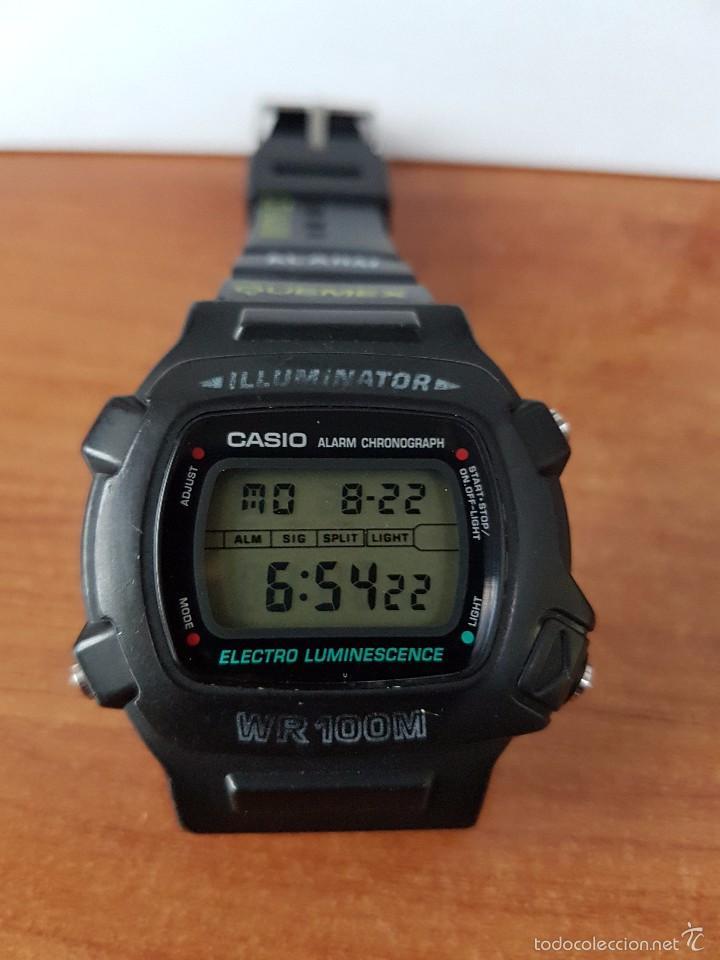Relojes - Casio: Reloj de caballero (Vintage) módulo 1219 - W 740 electro luminescence con correa de goma - Foto 3 - 58743095