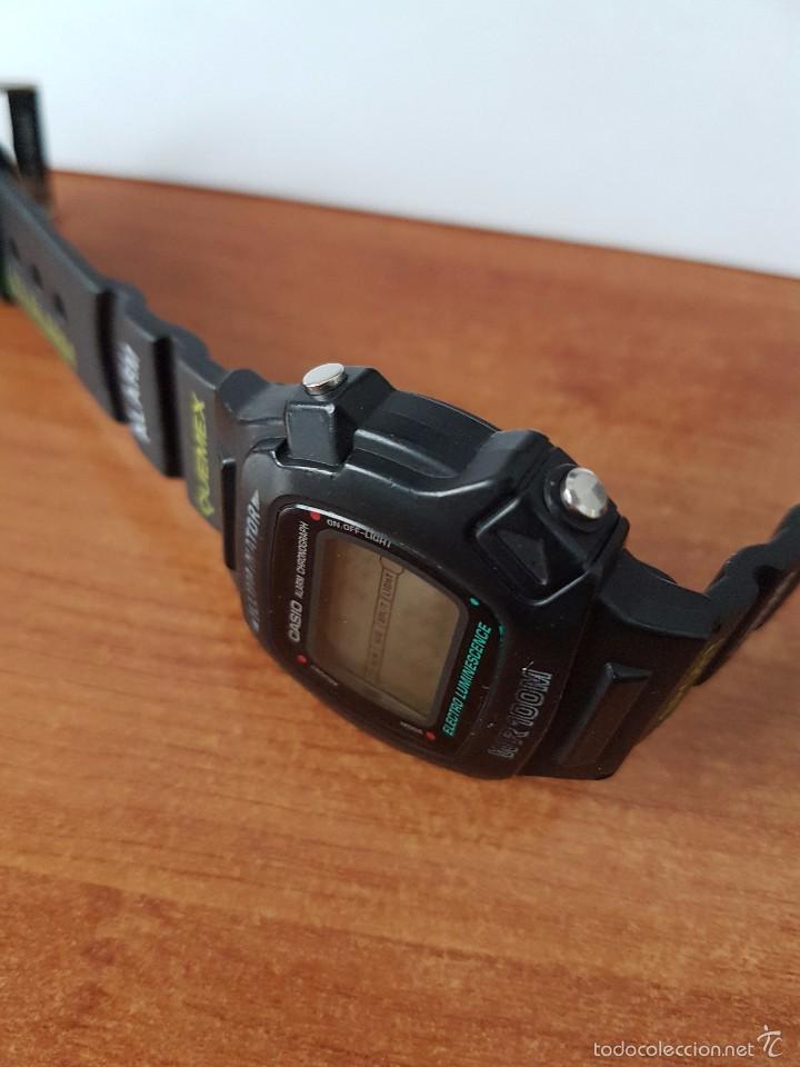 Relojes - Casio: Reloj de caballero (Vintage) módulo 1219 - W 740 electro luminescence con correa de goma - Foto 4 - 58743095