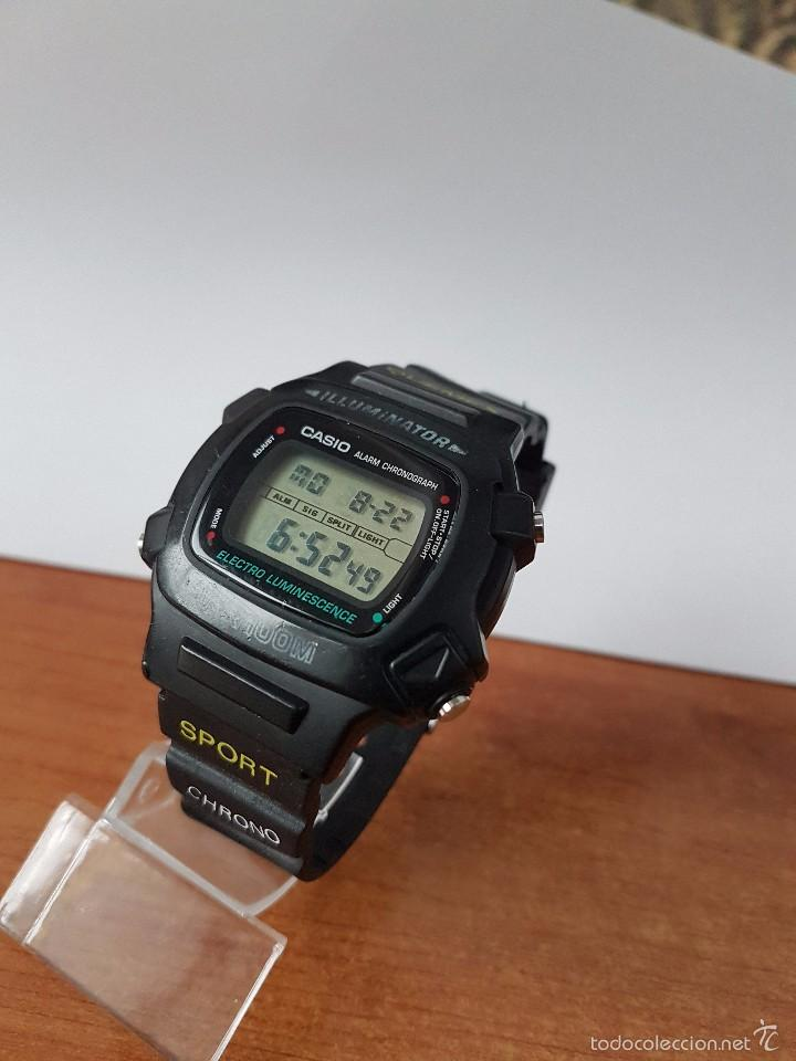 Relojes - Casio: Reloj de caballero (Vintage) módulo 1219 - W 740 electro luminescence con correa de goma - Foto 6 - 58743095