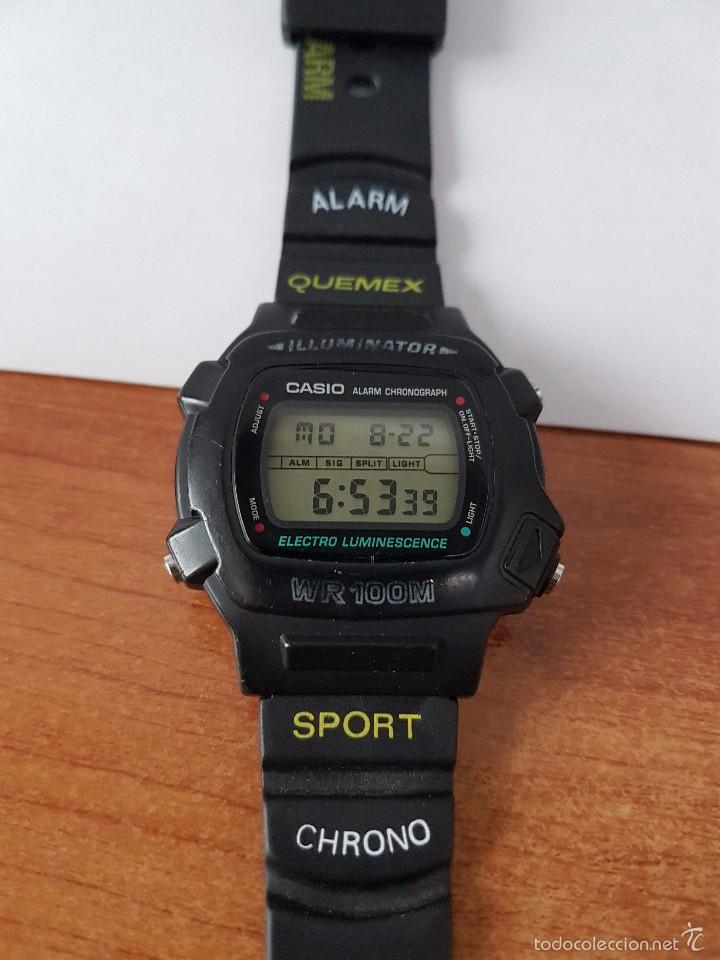Relojes - Casio: Reloj de caballero (Vintage) módulo 1219 - W 740 electro luminescence con correa de goma - Foto 7 - 58743095