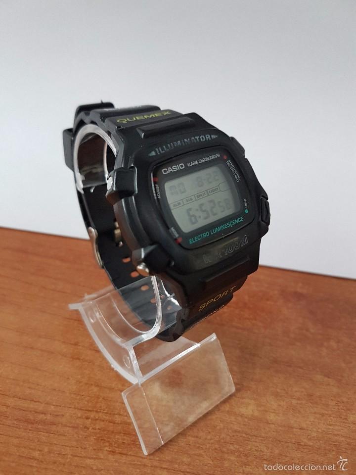 Relojes - Casio: Reloj de caballero (Vintage) módulo 1219 - W 740 electro luminescence con correa de goma - Foto 8 - 58743095