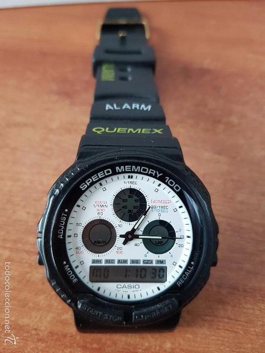 Relojes - Casio: Reloj de caballero (Vintage) Casio modulo 384 - AW 20 con correa de goma negra funcionando - Foto 2 - 115490458