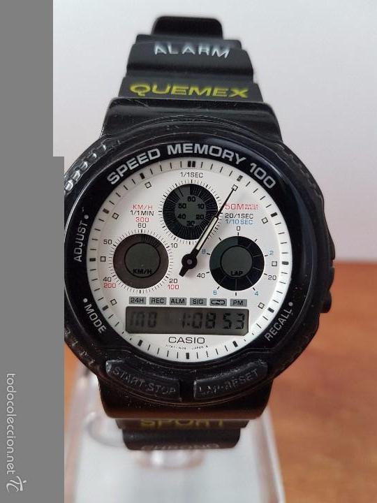 Relojes - Casio: Reloj de caballero (Vintage) Casio modulo 384 - AW 20 con correa de goma negra funcionando - Foto 7 - 115490458