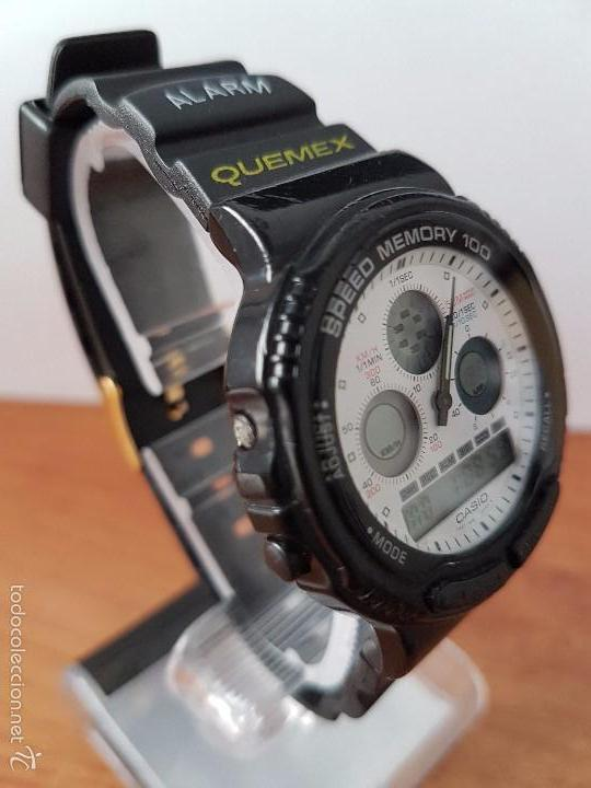Relojes - Casio: Reloj de caballero (Vintage) Casio modulo 384 - AW 20 con correa de goma negra funcionando - Foto 8 - 115490458