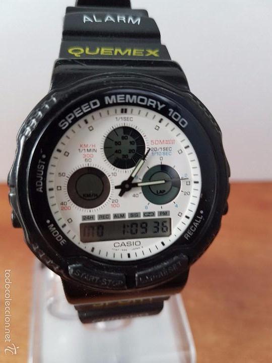 Relojes - Casio: Reloj de caballero (Vintage) Casio modulo 384 - AW 20 con correa de goma negra funcionando - Foto 9 - 115490458