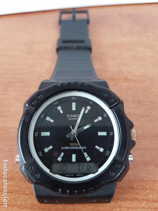Relojes - Casio: Reloj de caballero Casio (Vintage) de los años 80 analógico y digital con correa de goma nueva. - Foto 2 - 61627492