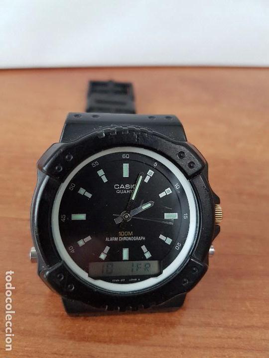 Relojes - Casio: Reloj de caballero Casio (Vintage) de los años 80 analógico y digital con correa de goma nueva. - Foto 3 - 61627492