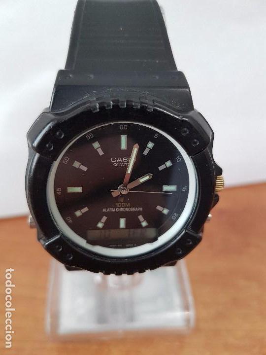 Relojes - Casio: Reloj de caballero Casio (Vintage) de los años 80 analógico y digital con correa de goma nueva. - Foto 8 - 61627492
