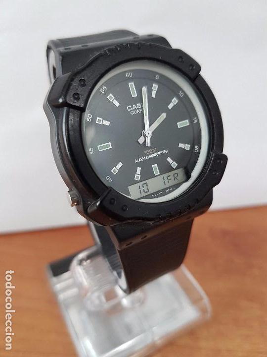 Relojes - Casio: Reloj de caballero Casio (Vintage) de los años 80 analógico y digital con correa de goma nueva. - Foto 11 - 61627492