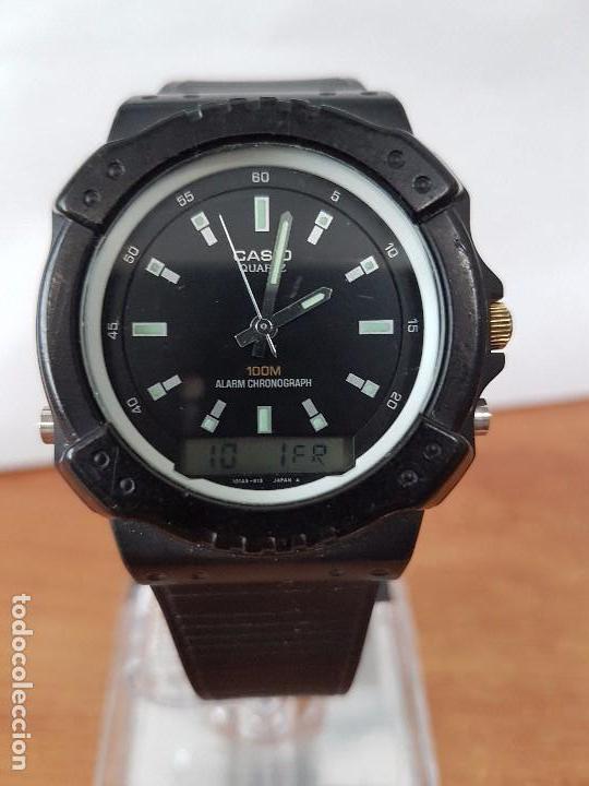Relojes - Casio: Reloj de caballero Casio (Vintage) de los años 80 analógico y digital con correa de goma nueva. - Foto 12 - 61627492