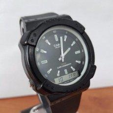 Relojes - Casio: RELOJ DE CABALLERO CASIO (VINTAGE) DE LOS AÑOS 80 ANALÓGICO Y DIGITAL CON CORREA DE GOMA NUEVA. . Lote 61627492