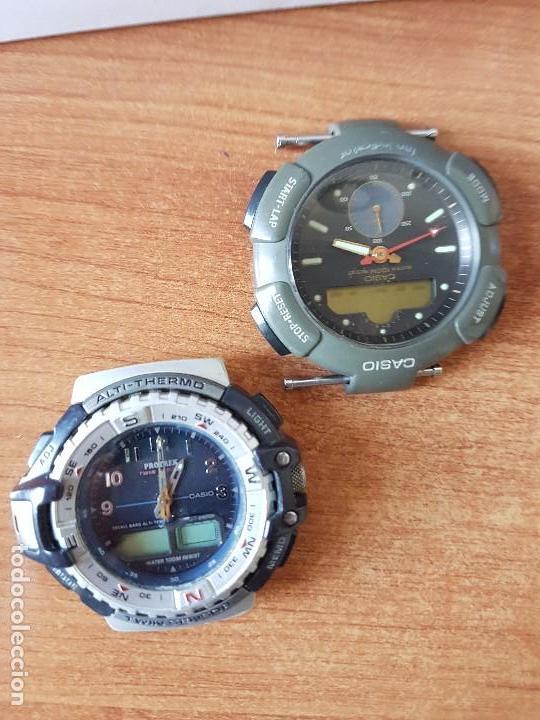 Relojes - Casio: Dos relojes de caballero (Vintage) Casio para repuestos (FORNITURAS) mirar fotos. - Foto 3 - 62139560