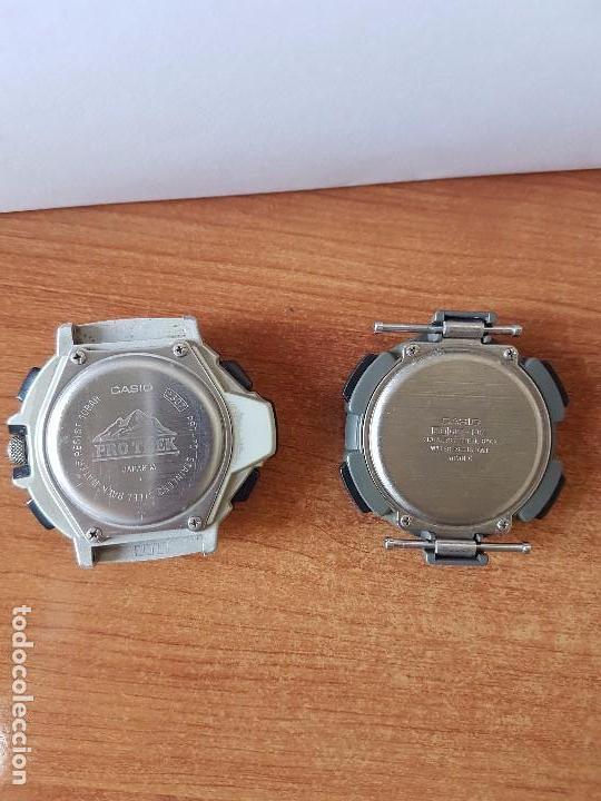 Relojes - Casio: Dos relojes de caballero (Vintage) Casio para repuestos (FORNITURAS) mirar fotos. - Foto 5 - 62139560