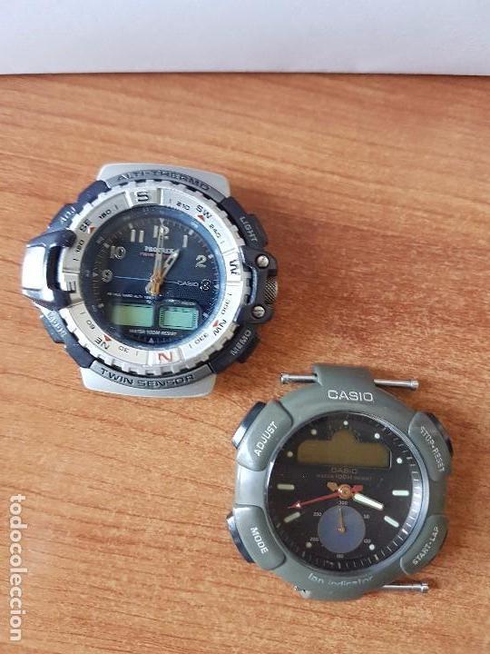 Relojes - Casio: Dos relojes de caballero (Vintage) Casio para repuestos (FORNITURAS) mirar fotos. - Foto 9 - 62139560