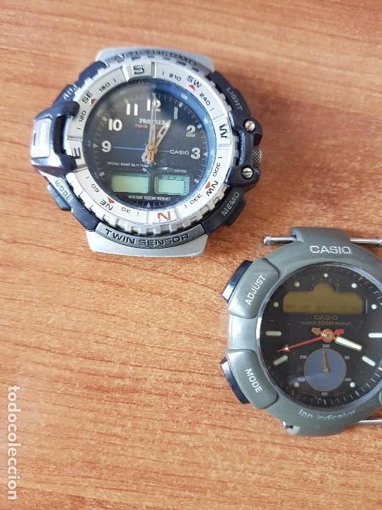 Relojes - Casio: Dos relojes de caballero (Vintage) Casio para repuestos (FORNITURAS) mirar fotos. - Foto 10 - 62139560