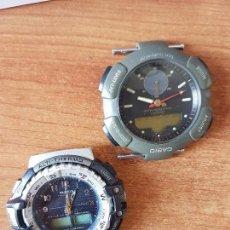 Relojes - Casio: DOS RELOJES DE CABALLERO (VINTAGE) CASIO PARA REPUESTOS (FORNITURAS) MIRAR FOTOS.. Lote 62139560
