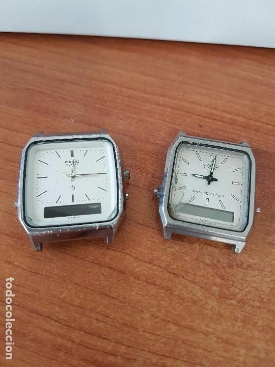 Relojes - Casio: Dos relojes de caballero (Vintage) Casio analógico y digital para repuestos o reparar - Foto 2 - 62141392