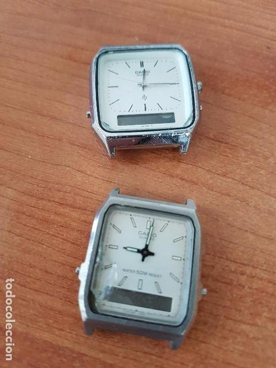 DOS RELOJES DE CABALLERO (VINTAGE) CASIO ANALÓGICO Y DIGITAL PARA REPUESTOS O REPARAR (Relojes - Relojes Actuales - Casio)