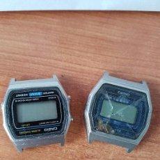 Relojes - Casio: DOS RELOJES DE CABALLERO (VINTAGE) CASIO PARA REPUESTOS (FORNITURAS) MIRAR TODAS LAS FOTOS.. Lote 62152604