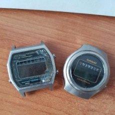Relojes - Casio: DOS RELOJES DE CABALLERO (VINTAGE) CASIO PARA REPUESTOS (FORNITURAS) MIRAR TODAS LAS FOTOS.. Lote 62152804