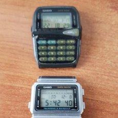 Relojes - Casio: DOS RELOJES DE CABALLERO (VINTAGE) CASIO PARA REPUESTOS (FORNITURAS) MIRAR TODAS LAS FOTOS.. Lote 62461448