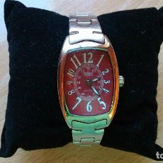 Relojes - Casio: RELOJ DE PULSERA MARCA CASIO QUARZ ESFERA ROJA MOD. LTP 1208D. Lote 65804050