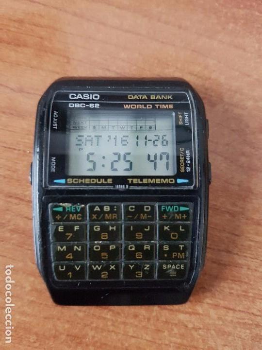 Relojes - Casio: Un reloj de caballero (Vintage) Casio data bank calibre DBC-82 módulo 676, fecha fabricación 1980. - Foto 8 - 67690277