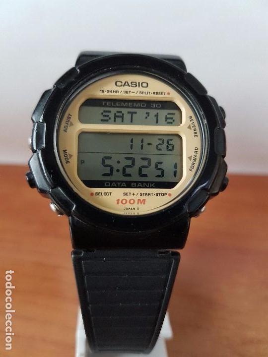 Relojes - Casio: Un reloj de caballero (Vintage) Casio calibre DGW-30 módulo 976, fabricación 1980, correa goma - Foto 11 - 67690641