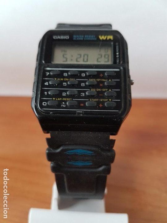 Relojes - Casio: Un reloj de caballero (Vintage) Casio alarma, crono, calculadora, calibre CA-53W módulo 437. - Foto 2 - 115515490
