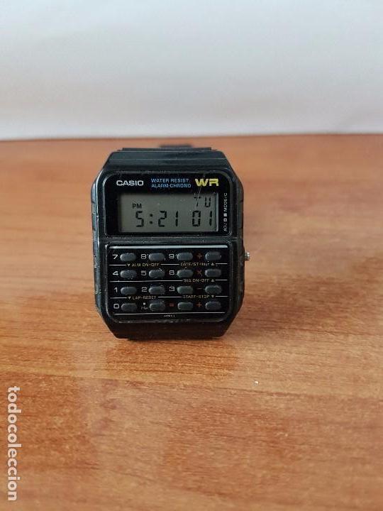 Relojes - Casio: Un reloj de caballero (Vintage) Casio alarma, crono, calculadora, calibre CA-53W módulo 437. - Foto 4 - 115515490