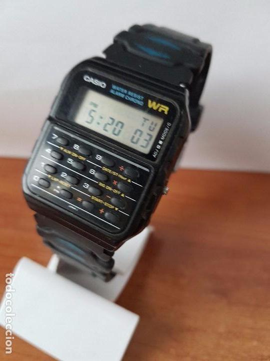 Relojes - Casio: Un reloj de caballero (Vintage) Casio alarma, crono, calculadora, calibre CA-53W módulo 437. - Foto 7 - 115515490