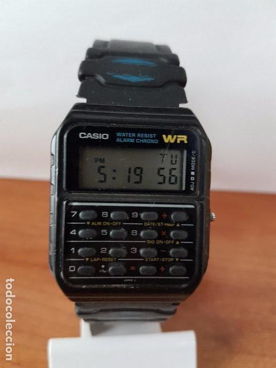 Relojes - Casio: Un reloj de caballero (Vintage) Casio alarma, crono, calculadora, calibre CA-53W módulo 437. - Foto 9 - 115515490