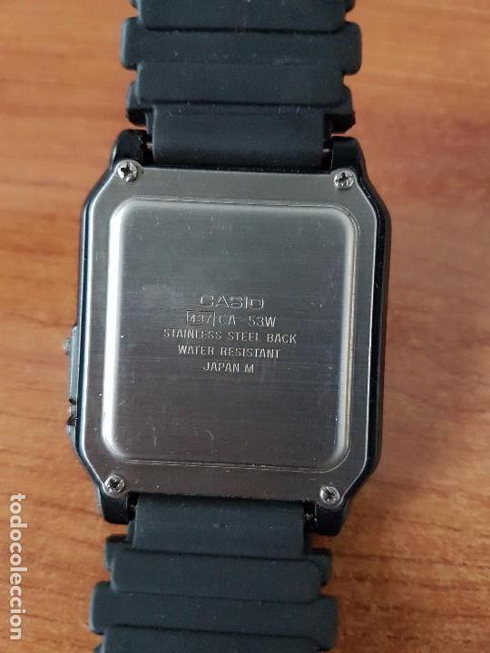 Relojes - Casio: Un reloj de caballero (Vintage) Casio alarma, crono, calculadora, calibre CA-53W módulo 437. - Foto 10 - 115515490