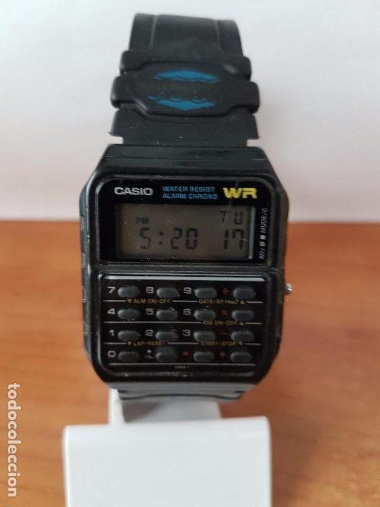 Relojes - Casio: Un reloj de caballero (Vintage) Casio alarma, crono, calculadora, calibre CA-53W módulo 437. - Foto 11 - 115515490